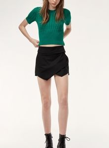 Aritzia Talula Skort Short Black - Size 4
